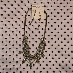 Lucky Brand necklace and earrings set
